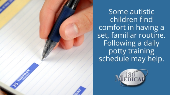 potty training schedule incontinence autism