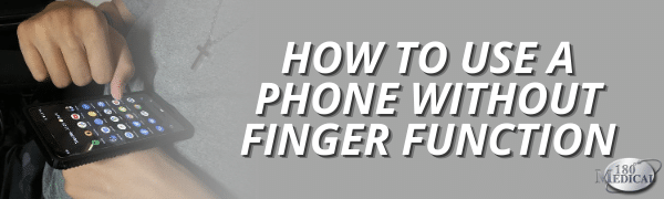 how to use a phone without finger function