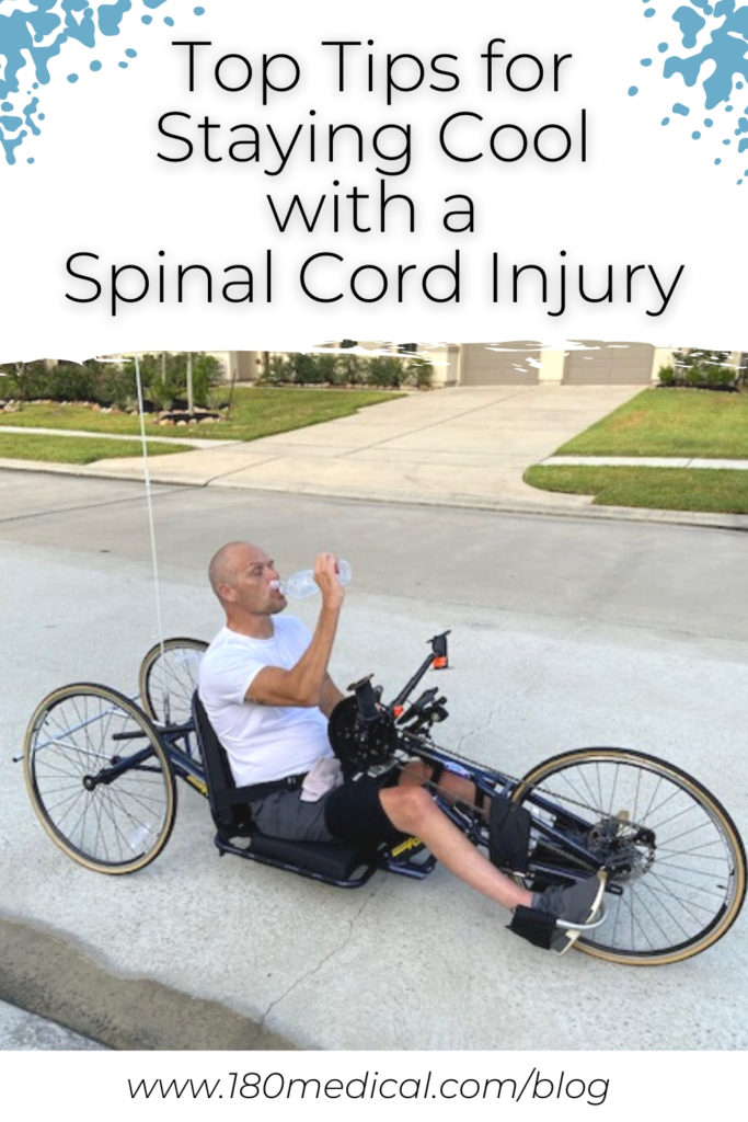 tips for staying cool and avoiding overheating with a spinal cord injury