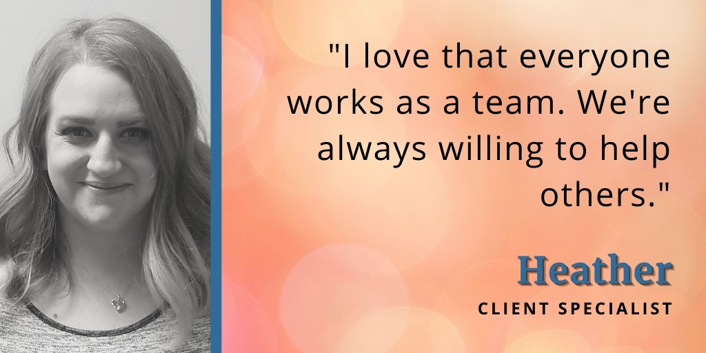 Heather reasons why we love working at 180 Medical quote