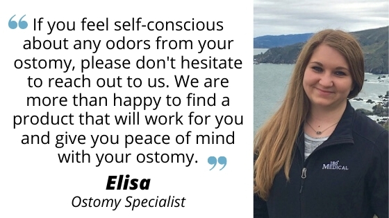elisa ostomy specialist quote about ostomy odors