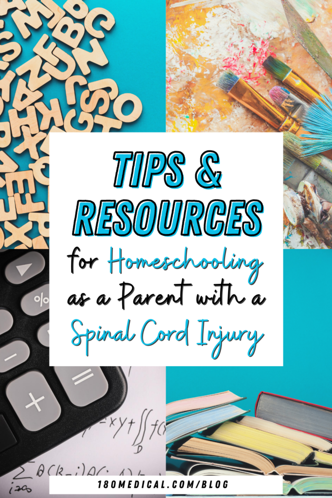 homeschooling tips and resources for parents with a spinal cord injury
