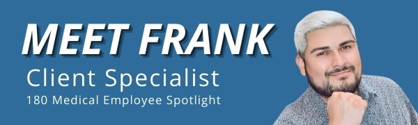 Meet Frank - Client Specialist header image with title and picture of Frank
