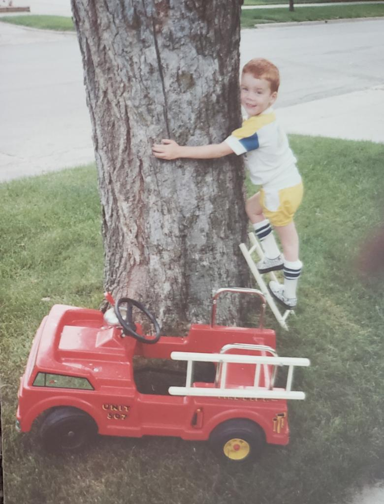 brendan playing as a child