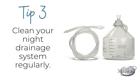 prevent urostomy infection clean your night drainage system tip