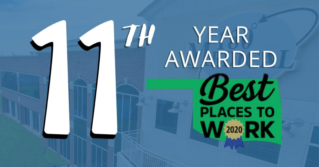 11th year awarded best places to work in oklahoma