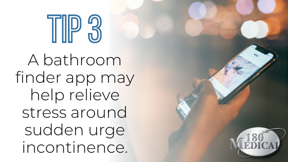 bathroom finder smartphone app tip to reduce stress from urinary incontinence