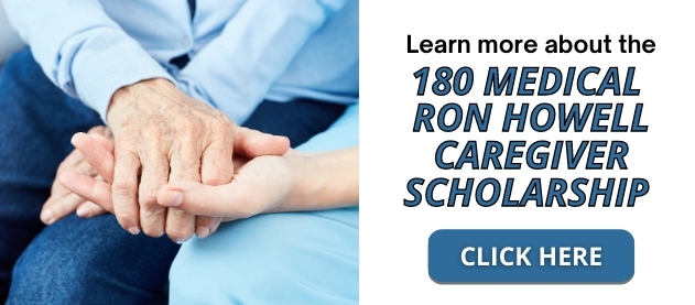 Learn more about 180 medical caregiver scholarship banner