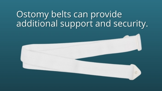 use ostomy belt for added security