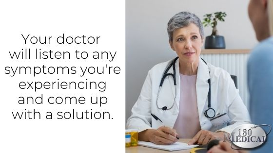 your doctor will listen to your symptoms to determine treatment plan