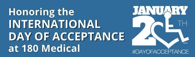 International Day of Acceptance at 180 Medical blog title header graphic