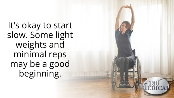 wheelchair stretches exercise with spinal cord injury