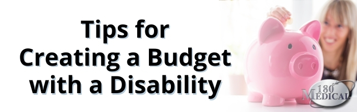 Tips for Creating a Budget with a Disability blog title header