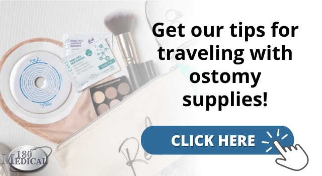 click here to get our tips for traveling with ostomy supplies
