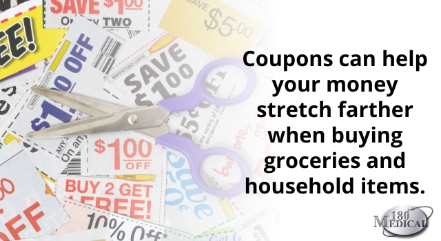 coupons can help your money stretch farther when buying groceries and household items