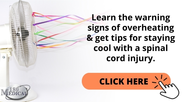 link graphic to tips for reducing the risk of overheating with a spinal cord injury