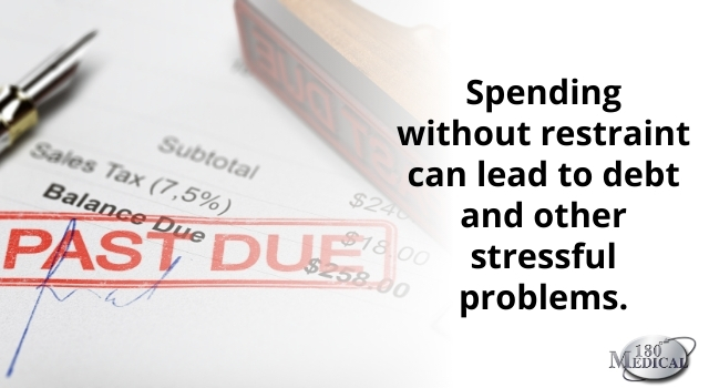 spending without restraint can lead to debt