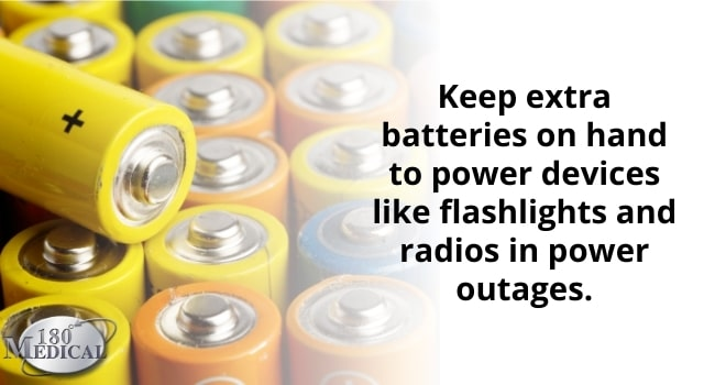 Keep extra batteries on hand