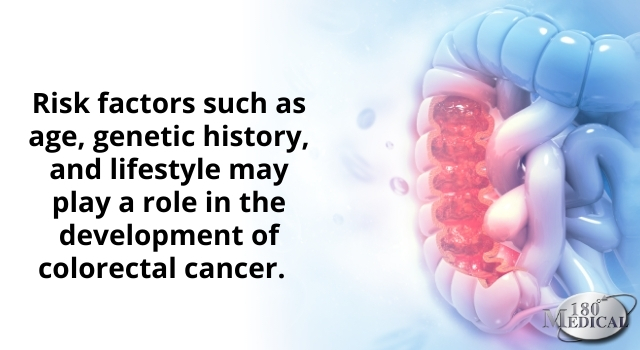 Age, genetic history, and lifestyle may play a role in the development of colorectal cancer.