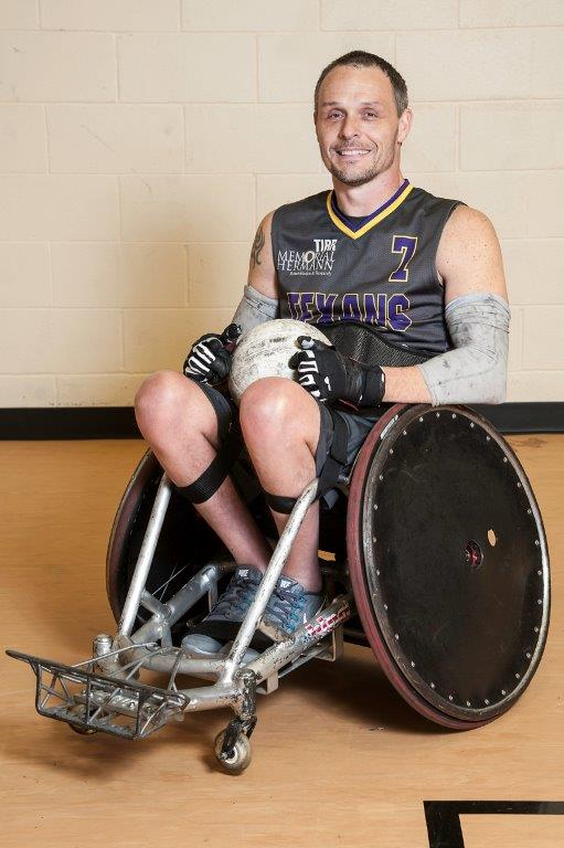 Steve playing wheelchair rugby