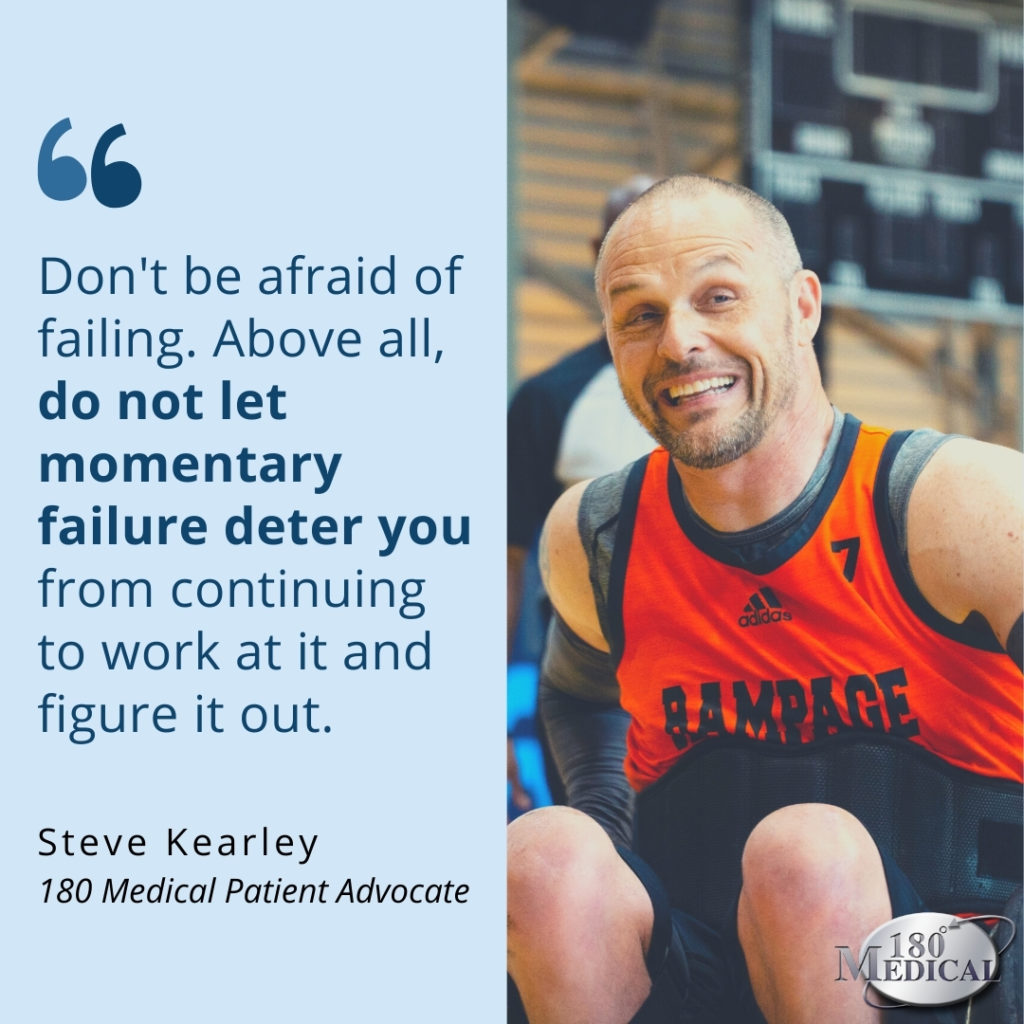 don't be afraid of failing - steve quote graphic