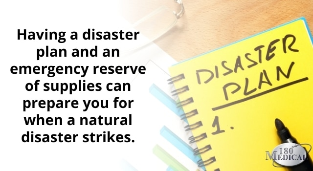 having a disaster plan will help you feel more prepared