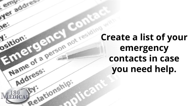 keep a list of emergency contacts