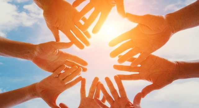 support group - picture of hands