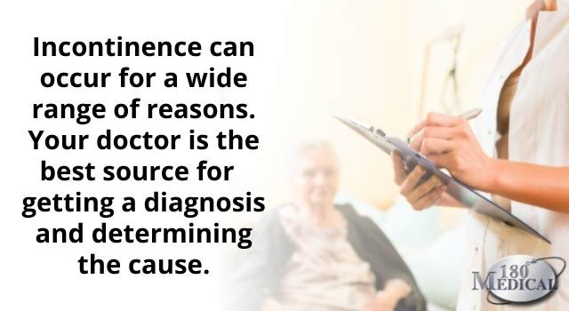your doctor is the best source for determining the cause of your incontinence