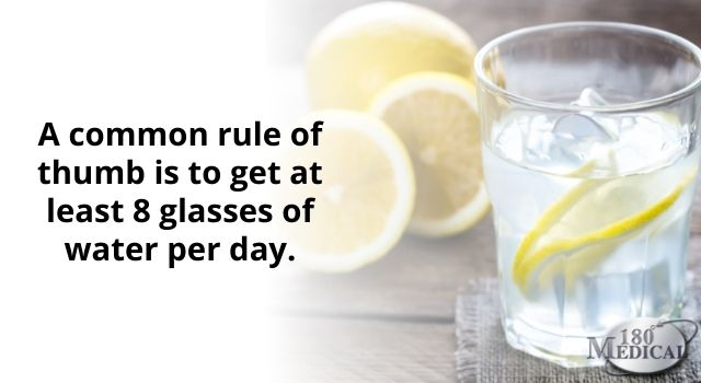 Stay hydrated with water
