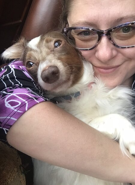 Linda with her dog April