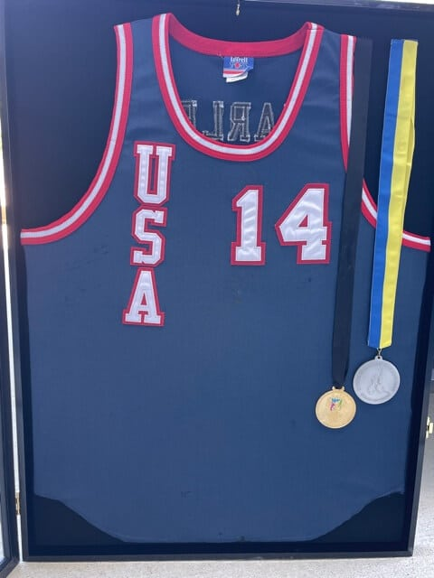 Steve's TEAM USA medals and jersey